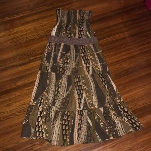 Bohemian tube top maxi dress